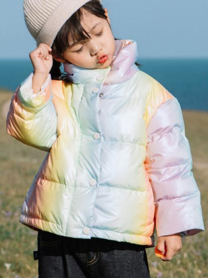 kiskissing wholesale kid girl rainbow coat